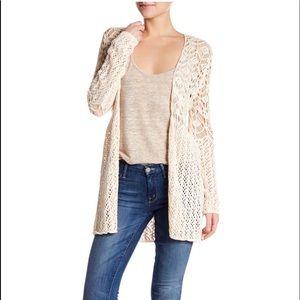 🌸 Olivia Sky Crocheted Duster Cartigan